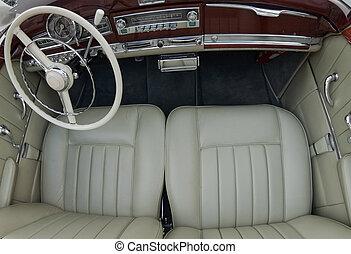 Elegant old car interior