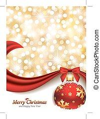 elegant, ontwerp, kerstmis