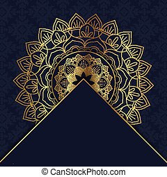 elegant, ontwerp, mandala, 1208