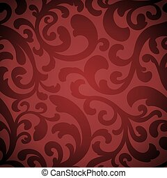 An elegant red seamless repeating tile pattern.