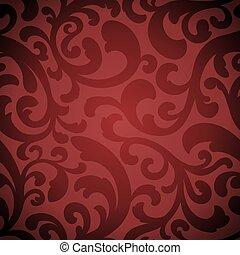Elegant organic seamless pattern - An elegant red seamless ...