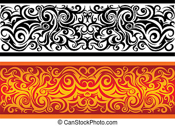 Elegant ornament - Abstract work with tribal elements