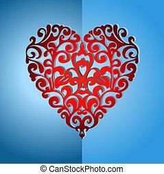 Elegant ornate love heart