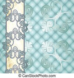 Elegant pale blue Rococo background