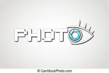 elegant photo advise symbol