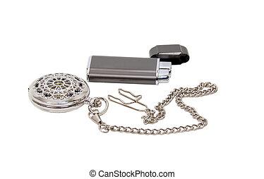 Elegant Pocket watch and lighter