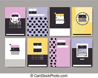 elegant poster template design set