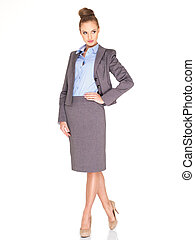 Elegant professional woman in a stylish suit