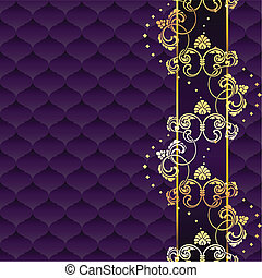 Elegant purple Rococo background