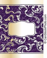 Elegant purple wine label template