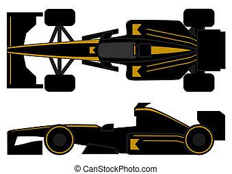 Elegant racing car