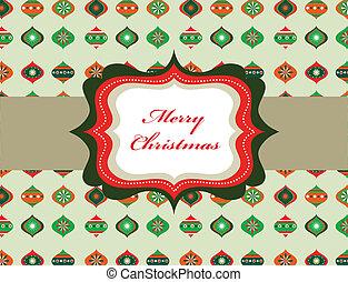 elegant, rahmen, retro, hintergrund, weihnachten