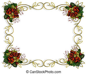 elegant, rahmen, umrandungen, weihnachten