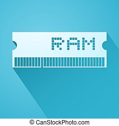 elegant ram memory icon