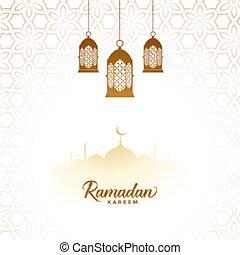 elegant ramadan kareem islamic lantern decorative background