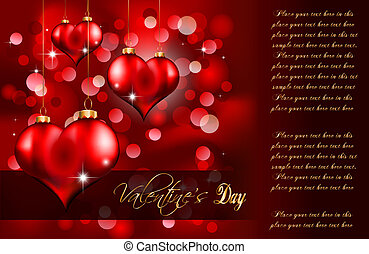 Elegant Red and Gold Valentine's Day Flayer for important invitation