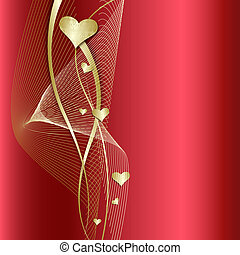 Elegant red Background with heart