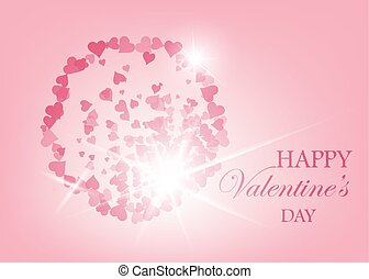 Elegant red background with hearts and place for text. Valentine s Day. Vector Illustration.