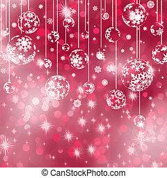 Elegant red christmas background. EPS 8