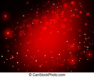 elegant red festive background with stars