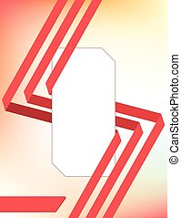 Elegant red ribbons cover template