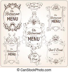 Elegant restaurant labels