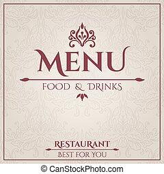 Elegant Restaurant Menu design.