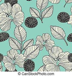elegant retro seamless pattern background