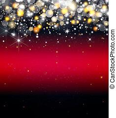 elegant, rood, sterretjes, achtergrond, feestelijk