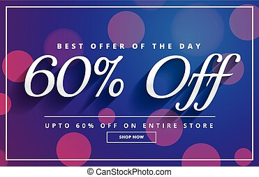 elegant sale discount voucher template banner design