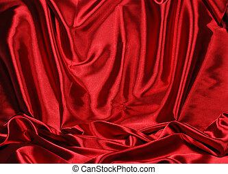 elegant, satijn, rode achtergrond