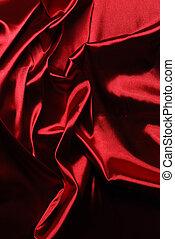 elegant, satijn, rood