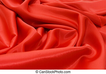 elegant, satijn, zacht, rode achtergrond