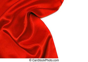 elegant, satijn, zacht, rood