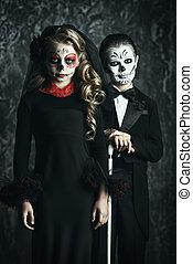 elegant scary couple
