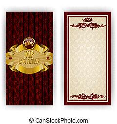 elegant, schablone, für, vip, luxus, einladung