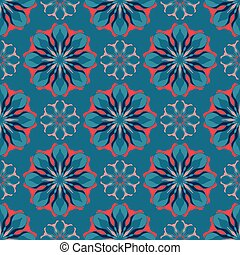 Elegant seamless pattern with Mandala and floral elements....
