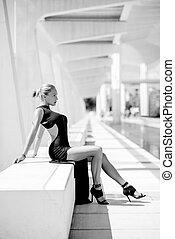 Elegant Sexy Woman Posing