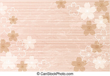 Elegant, Shabby Chic Cherry blossom background. File contains clipping masks, Transparent.
