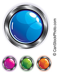 elegant shiny web button