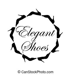 Elegant shoes text