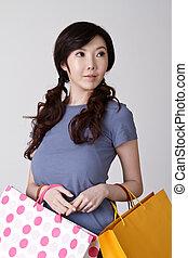 Elegant Shopping woman