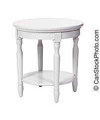 Elegant side table isolated