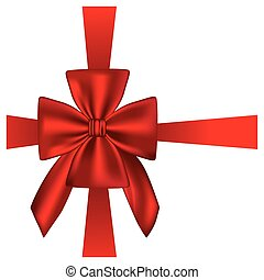 elegant silk red ribbon and bow wrapping