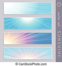 Elegant sky banners