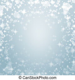 elegant sky blue christmas background with sparkles