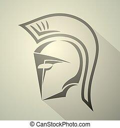 elegant spartan symbol