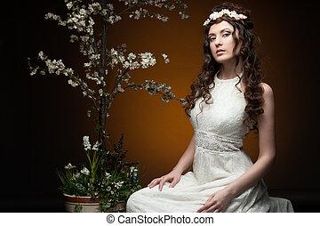 elegant spring girl