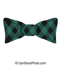 Elegant square bow tie icon, cartoon style