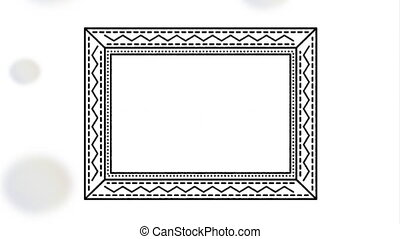 elegant square frame video animation - elegant square...